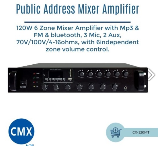 Mixer Amplifier CX 120MT