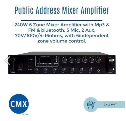 Mixer Amplifier CX 240MT