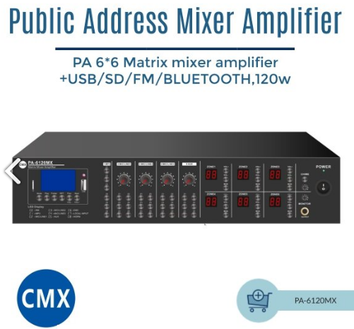 Mixer Amplifier PA-6120MX